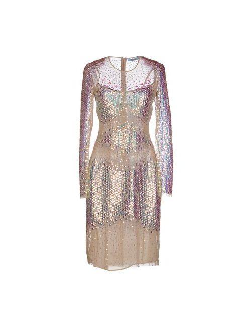 Blumarine | Женское Бежевое Короткое Платье