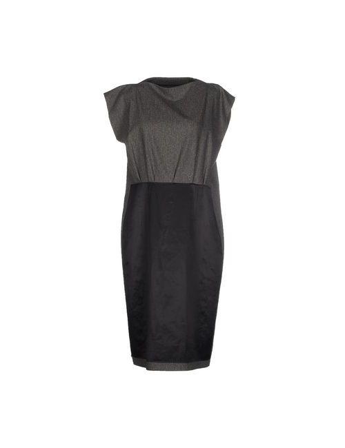 Maison Margiela | Женское Серое Платье До Колена