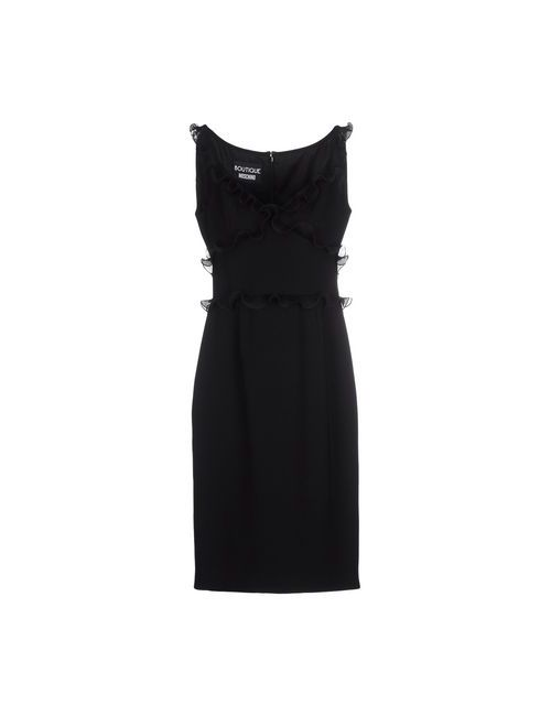 BOUTIQUE MOSCHINO | Женское Чёрное Платье До Колена