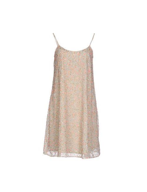 Armani Collezioni | Женское Слоновая Костящее Короткое Платье