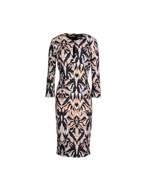 Just Cavalli | Женское Бежевое Платье До Колена