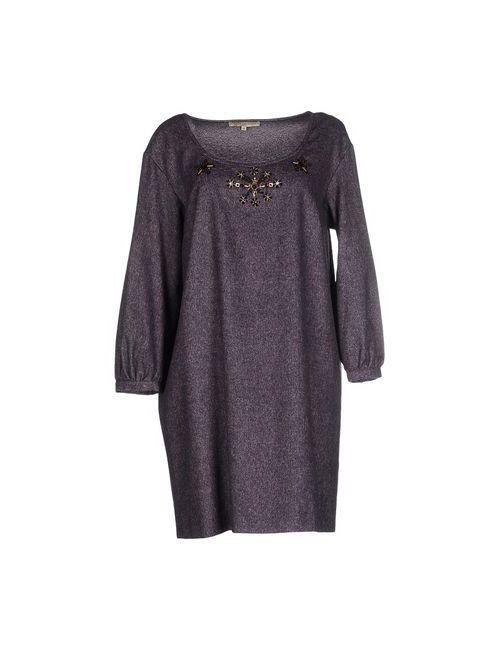 L' Autre Chose   Женское Фиолетовое Короткое Платье