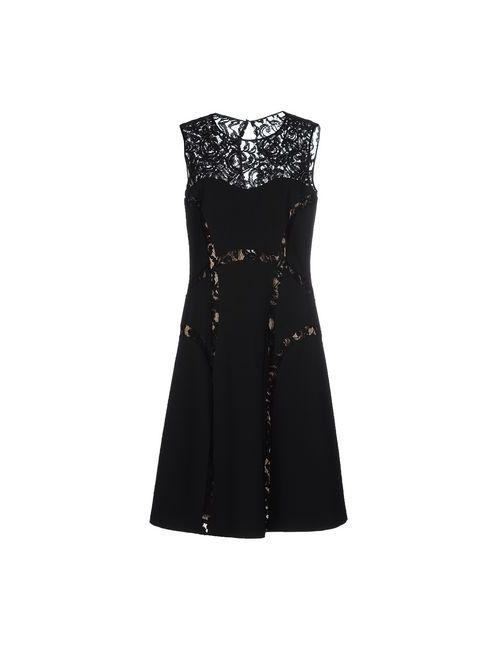 Alberta Ferretti | Женское Чёрное Платье До Колена