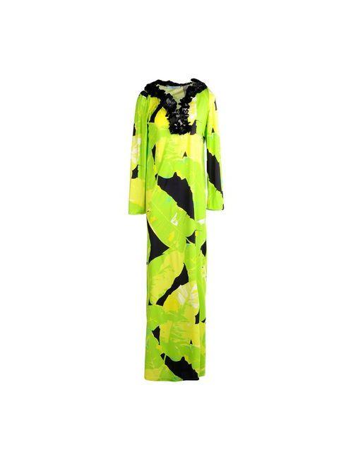 Blumarine | Женское Зелёное Длинное Платье