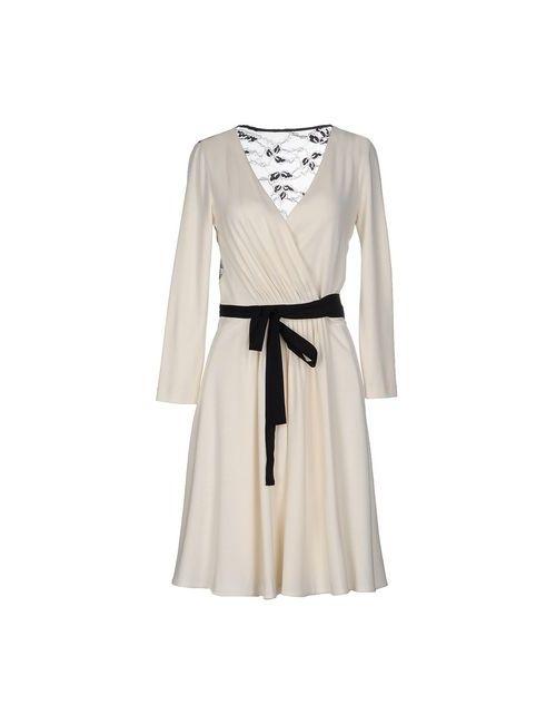 Diane Von Furstenberg | Женское Слоновая Костящее Короткое Платье