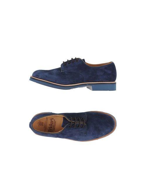 Tricker'S | Мужская Синяя Обувь На Шнурках