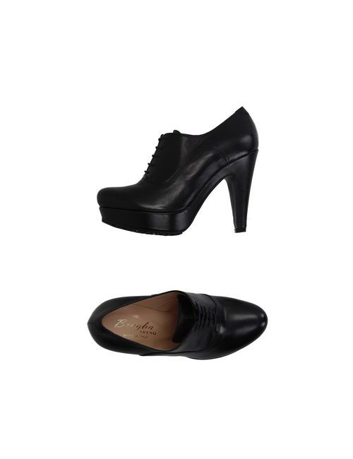 F.LLI BRUGLIA | Мужская Чёрная Обувь На Шнурках