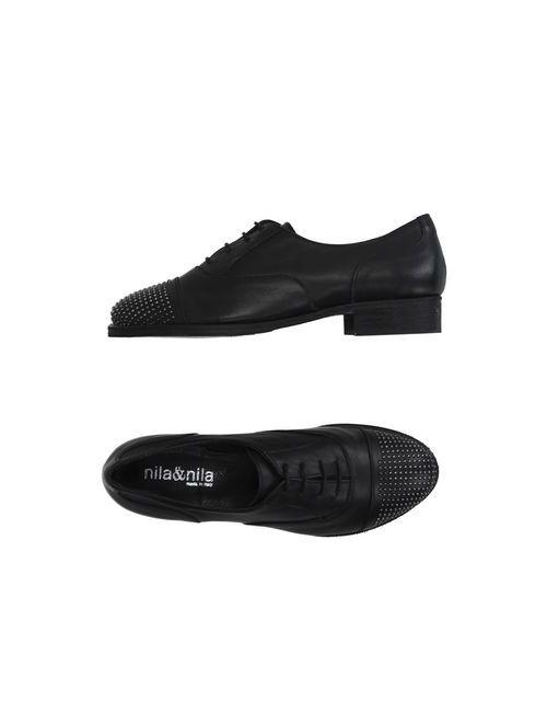 Nila&Nila | Мужская Чёрная Обувь На Шнурках