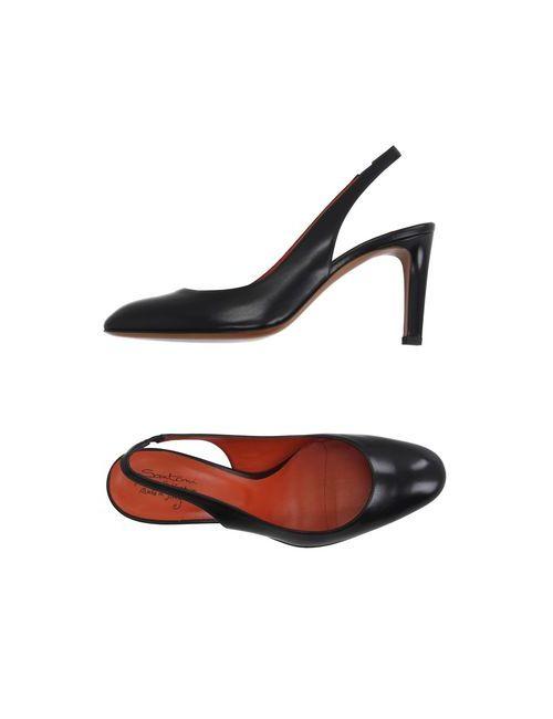 Santoni Rose | Женские Чёрные Туфли