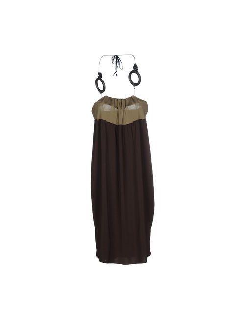 Pierantonio Gaspari | Женское Коричневое Короткое Платье