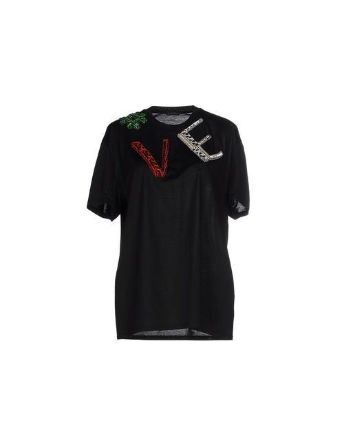 Versace | Женская Чёрная Футболка
