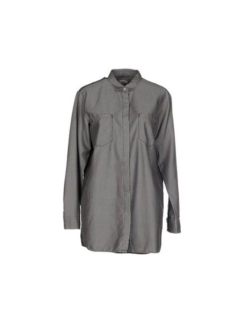 Tommy Hilfiger Denim   Женская Серая Джинсовая Рубашка