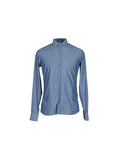 Etichetta 35   Женская Синяя Джинсовая Рубашка
