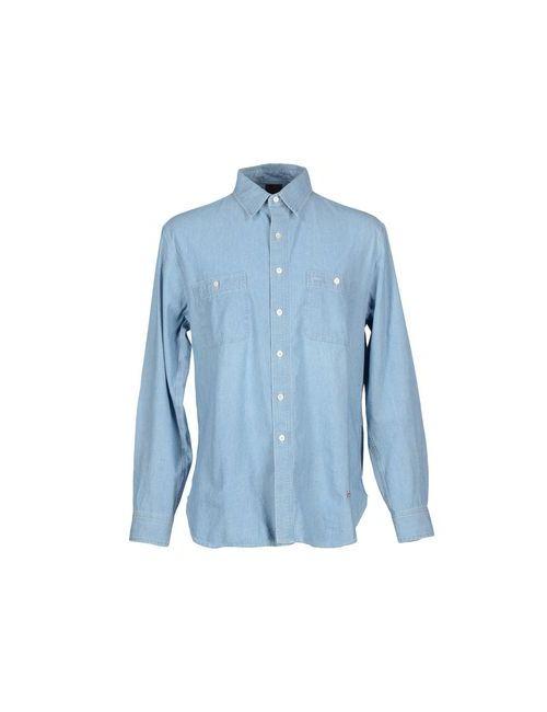 (+) People | Женская Синяя Джинсовая Рубашка