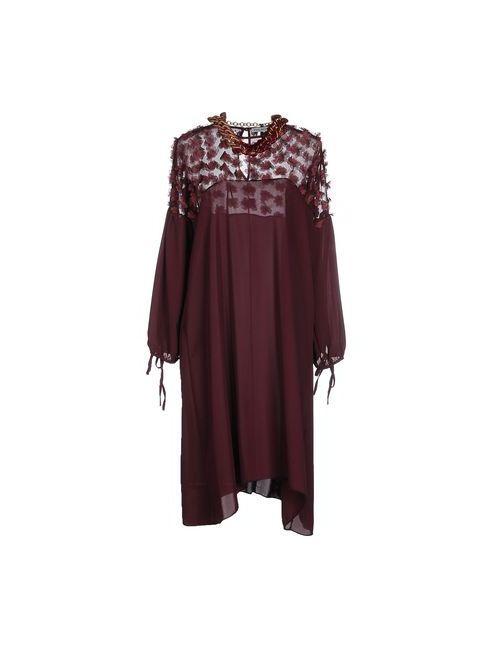 Angela Mele Milano | Женское Баклажанное Платье До Колена