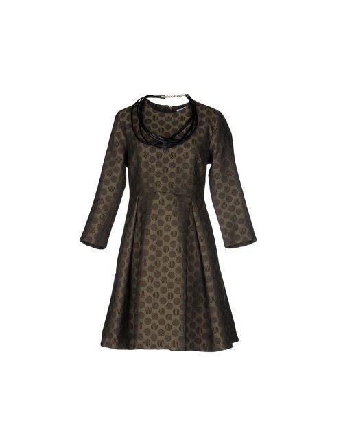 Angela Mele Milano | Женское Зелёное Короткое Платье