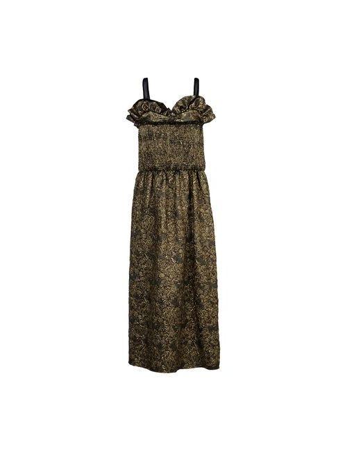 Rochas   Женское Зелёное Длинное Платье