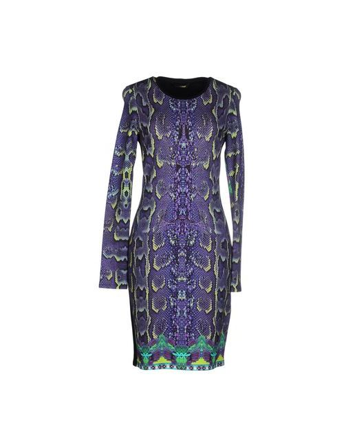 Roberto Cavalli | Женское Фиолетовое Короткое Платье