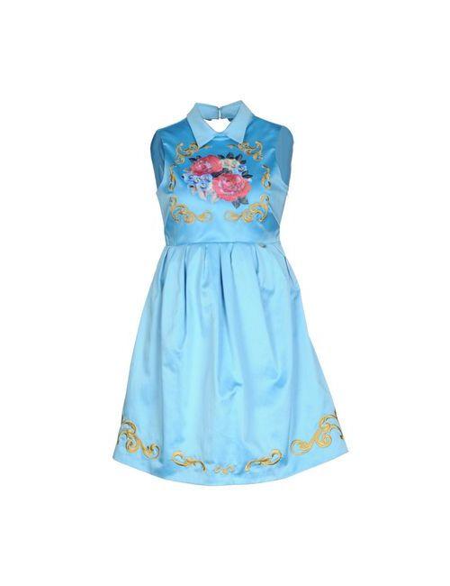 Mangano | Женское Голубой Короткое Платье