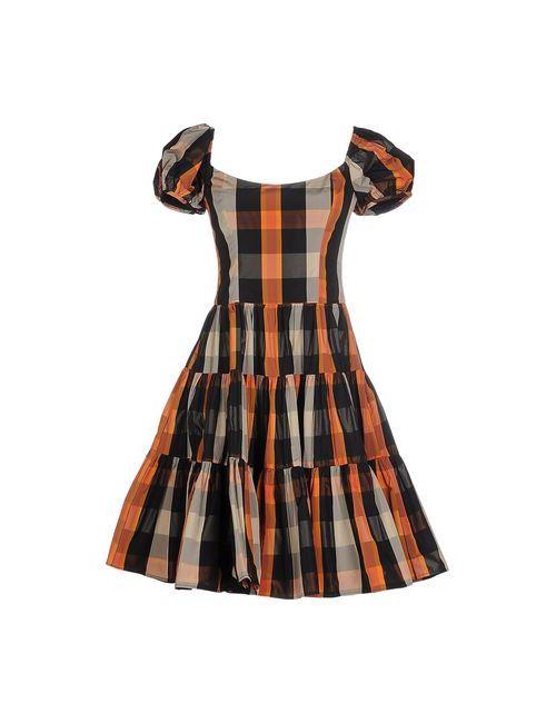 Red Valentino | Женское Оранжевое Короткое Платье