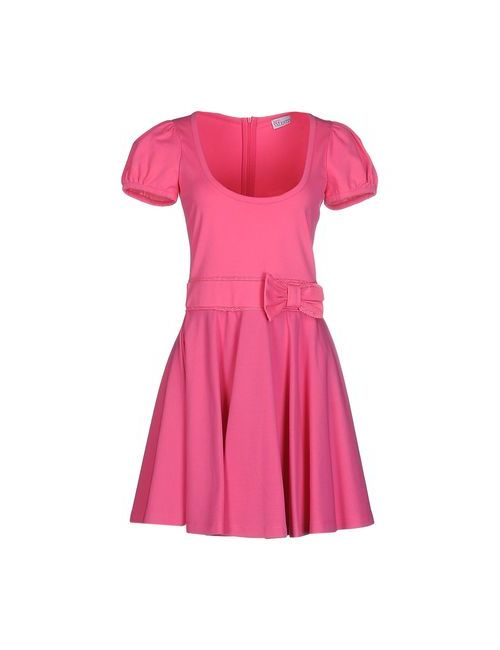 Red Valentino   Женское Фуксия Короткое Платье