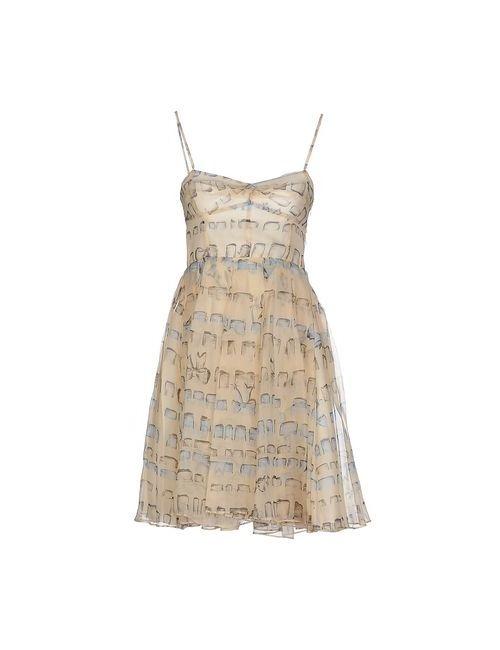 Red Valentino | Женское Песочное Короткое Платье