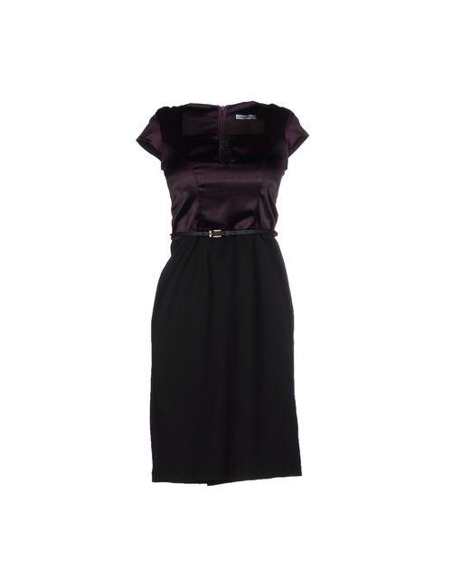 MBYMAIOCCI | Женское Баклажанное Короткое Платье