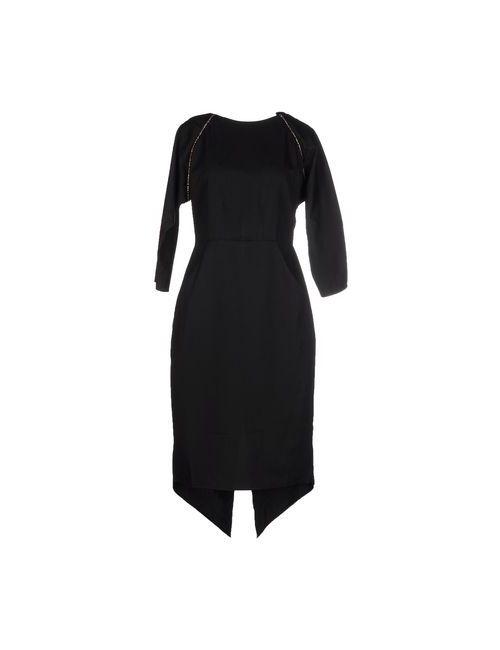 MAIOCCI   Женское Чёрное Платье До Колена