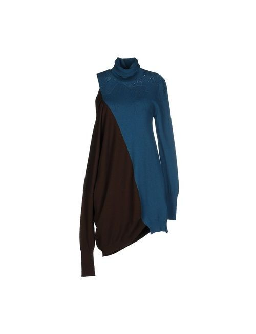 Oblique | Женское Цвет Морской Волны Короткое Платье