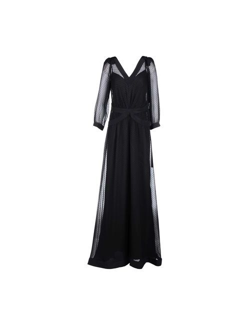 Moschino | Женское Чёрное Длинное Платье