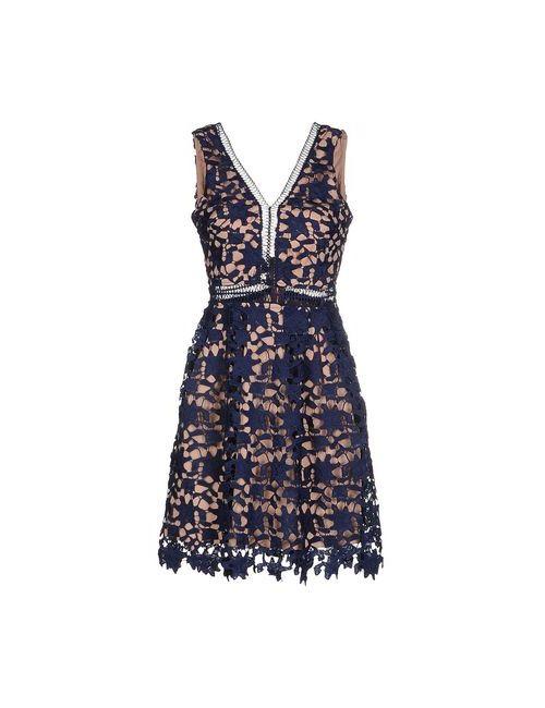 Mixmix | Женское Синее Короткое Платье
