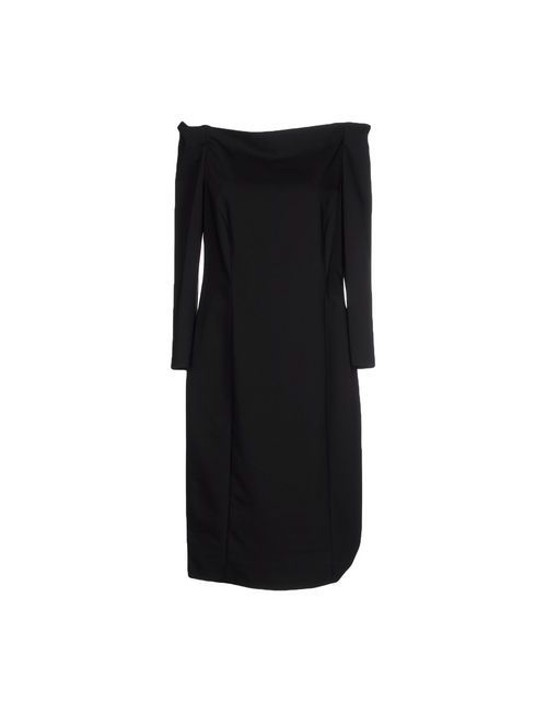 Boutique De La Femme | Женское Чёрное Платье До Колена