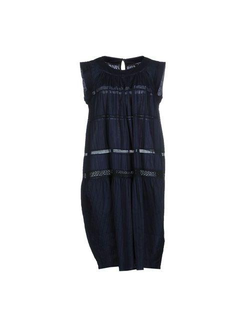High | Женское Синее Платье До Колена