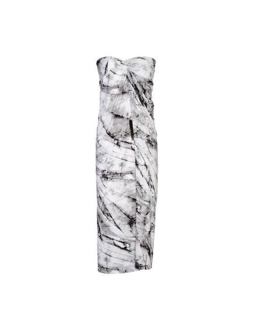 Helmut Lang | Женское Серое Платье До Колена