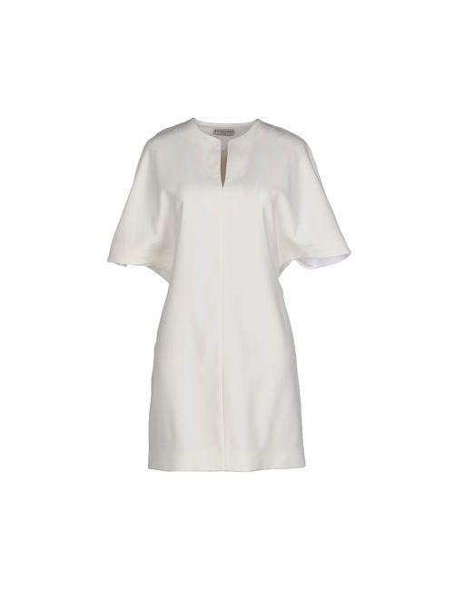 Balenciaga | Женское Белое Короткое Платье