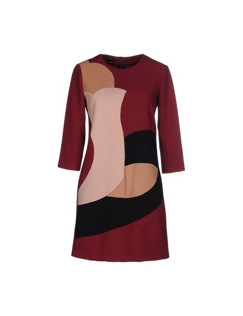 Pinko Black | Женское Коричневое Короткое Платье