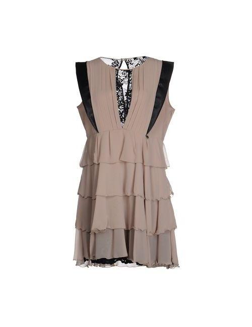 Mangano   Женское Бежевое Короткое Платье