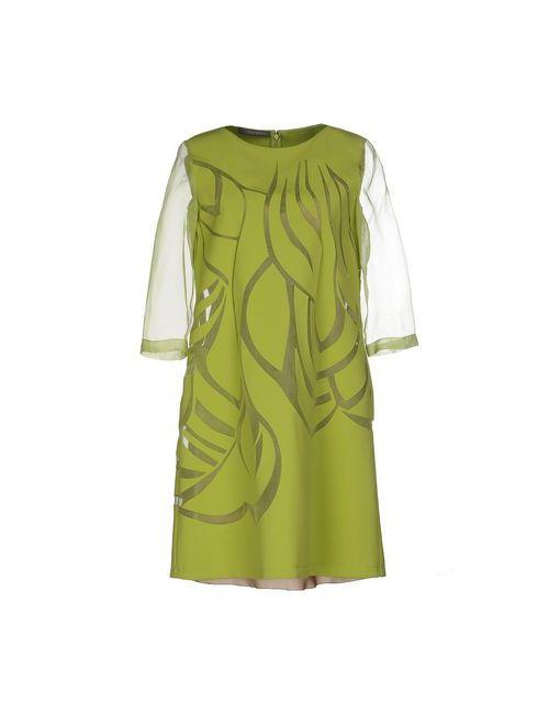Alberta Ferretti | Женское Зелёное Короткое Платье