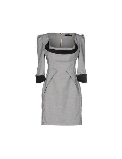 Mangano | Женское Серое Короткое Платье