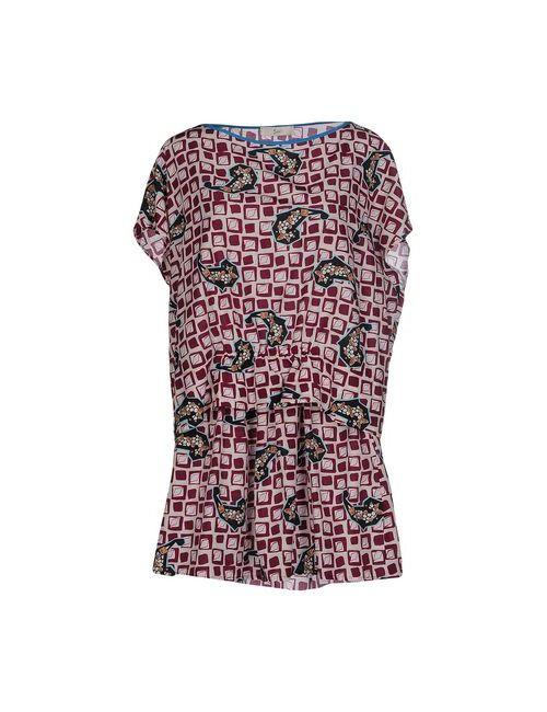 Suoli | Женское Фиолетовое Короткое Платье