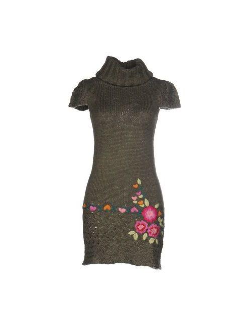 Desigual | Женское Зелёное Короткое Платье