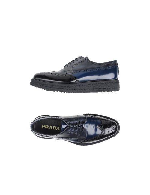 Prada | Мужская Чёрная Обувь На Шнурках