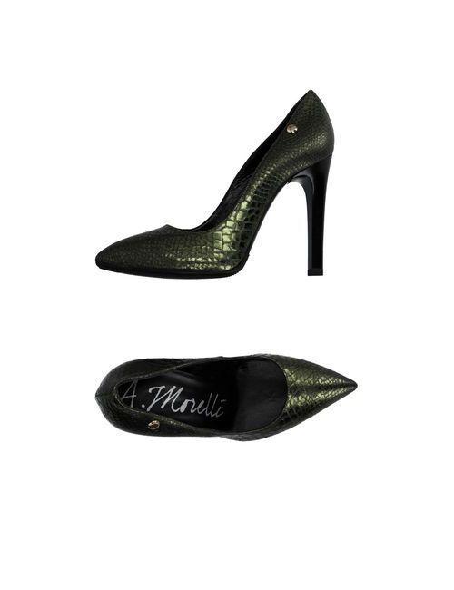 Andrea Morelli | Женские Зелёные Туфли