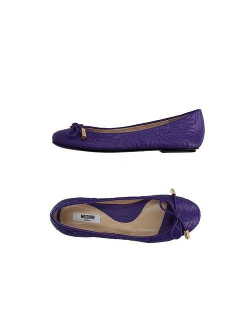 Moschino Couture   Женские Фиолетовые Балетки