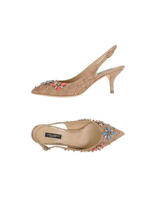 Dolce & Gabbana | Женские Бежевые Туфли
