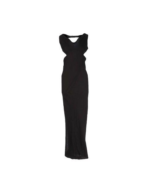 Rick Owens   Женское Серое Длинное Платье