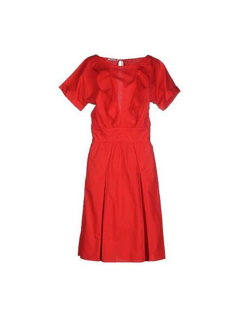Miu Miu   Женское Красное Платье До Колена