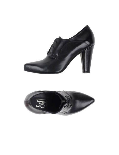 Sgn Giancarlo Paoli   Мужская Чёрная Обувь На Шнурках