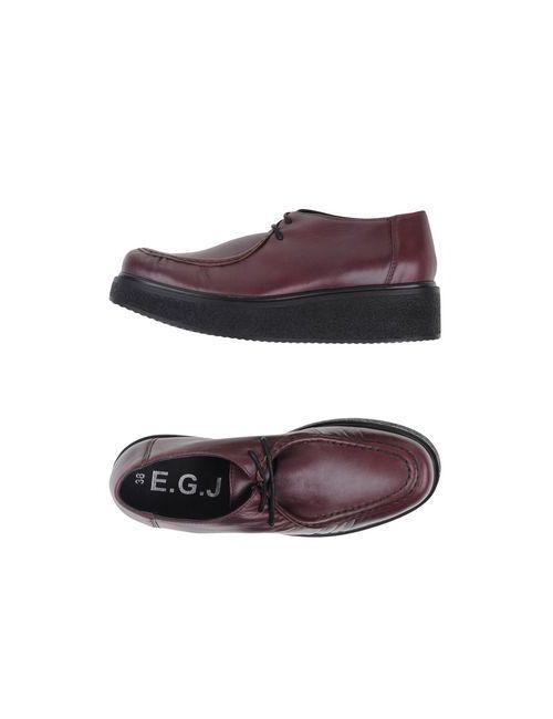 E.G.J.   Мужская Баклажанная Обувь На Шнурках