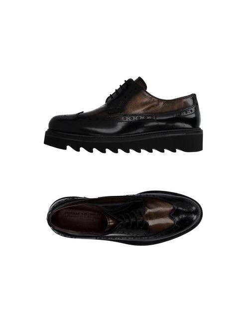 Nicola Barbato | Мужская Чёрная Обувь На Шнурках